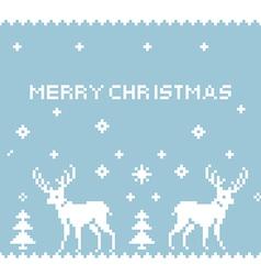 Deer Pixel Art vector image