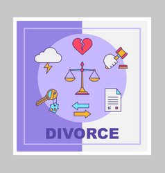 Divorce social media posts mockup vector
