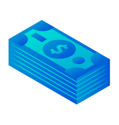 dollars icon isometric style vector image