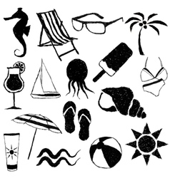 doodle beach images vector image