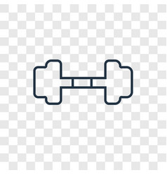 dumbbell concept linear icon isolated on vector image