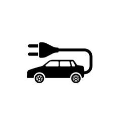 Electro car flat icon vector