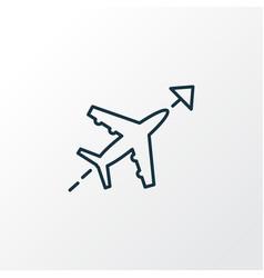 flight direction icon line symbol premium quality vector image