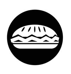 food pie icon vector image