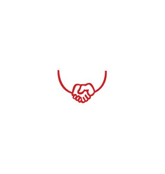 friendship logo vector image