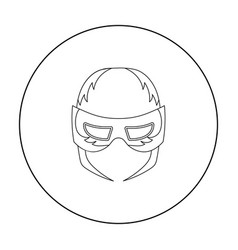 Full head mask icon in outline style isolated on vector