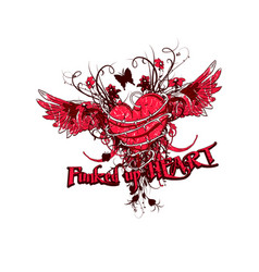 funked up heart vector image