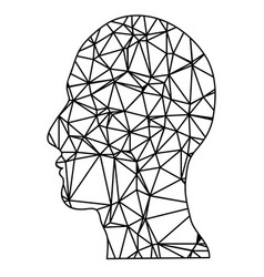 geometric head vector image