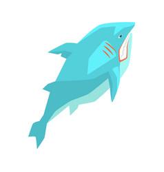 Great white shark marine fish living in warm sea vector