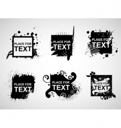 grunge web banners vector image