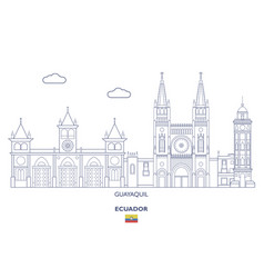 Guayaquil city skyline vector