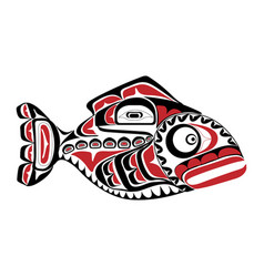 haida perch tattoo ornament in haida style isola vector image