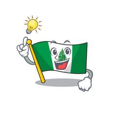 Have an idea gesture flag norfolk island vector