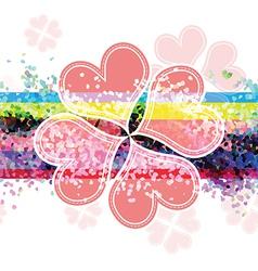 heart flower banner design vector image