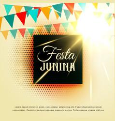 June party festa junina latin american festival vector