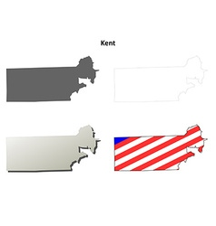 Kent Map Icon Set vector