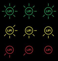 LiFi Icon set 1 vector image