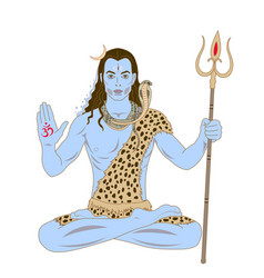 Lord shiva vector