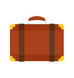 luggage bag icon flat style vector image