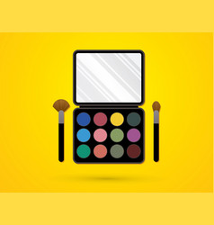 Make up colorful palette cosmetic graphic vector