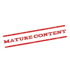 Mature Content Watermark Stamp vector
