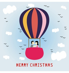 Merry Christmas greeting card15 vector image