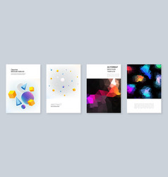 minimal brochure templates templates for flyer vector image