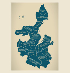 Modern city map - kiel city of germany with vector