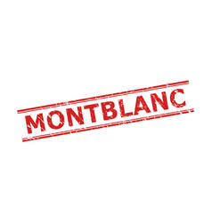 montblanc seal with unclean surface and double vector image