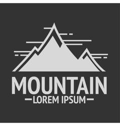 Mountain exploration vintage logos emblem vector image