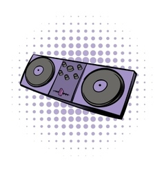Musical modern instrument mixing console icon vector image