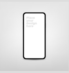 new version modern smartphone with blank screen vector image