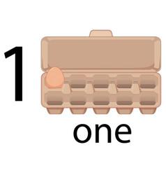 One egg in carton vector