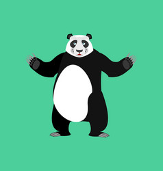 Panda happy emoji chinese bear merry emotion vector