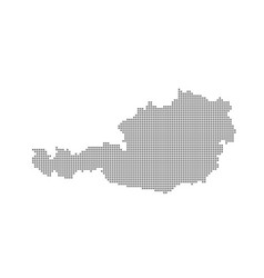 pixel map of austria dotted map of austria vector image