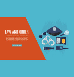 police items law and order web banner vector image