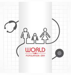 Poster or banner for world population day vector
