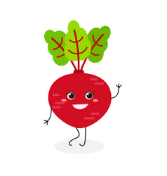 pretty cartoon beet vector image