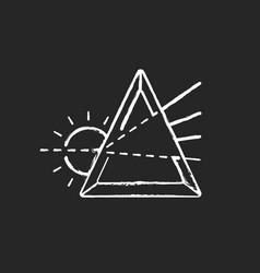 Prisma chalk white icon on black background vector