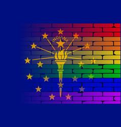 Rainbow wall indiana vector