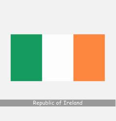 republic ireland irish national country flag vector image