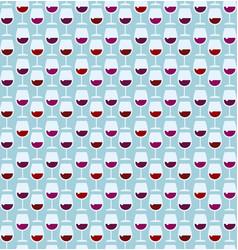 restaurant wine bar seamless retro style pattern vector image