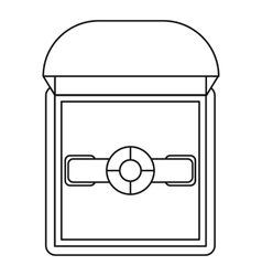 Ring in a gift box icon outline style vector image