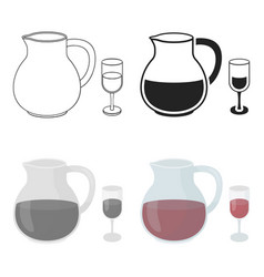 sangria icon in cartoon style isolated on white vector image