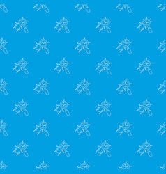 search insect pattern seamless blue vector image