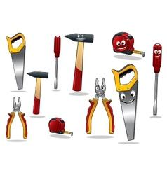 Set diy cartoon tools vector