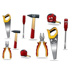 Set of DIY cartoon tools vector image