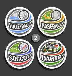 set sport logos vector image