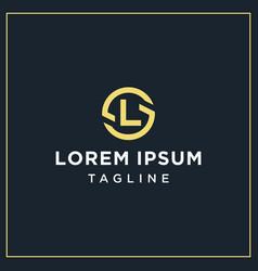sl or ls circle logo vector image