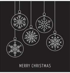 Snowlakes geometric Christmas ornaments vector image